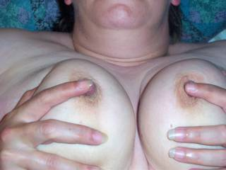 love them sucked,pinched,but really like Hot Cum all over them,please give them a load and post the pics.