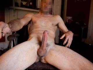 Just wanted to post a new pic or 2 of my cock and body after getting very horny on chat!