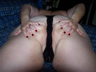 showing hubby where i want him