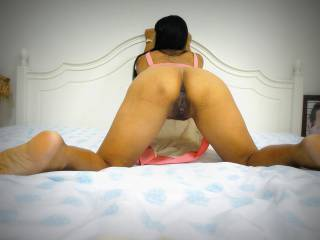 She was ready to get fucked from behind. I came inside her.