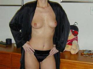 wow. hot body, great eyes. black satin panties, freckles on your tits, you are beautiful