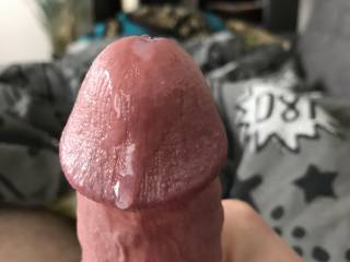 My big hard cock leaking precum and just aching to be sucked right...