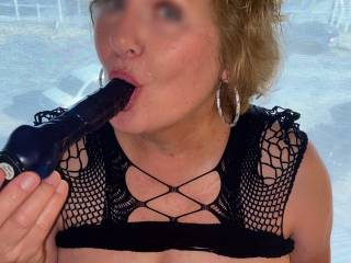Taking a break from the beach wish we met sexy zoig boys and girls on vaca last week! Mrs Seeker getting her blue cock all fired up!!