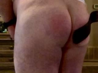 Spanking of a naughty boy
