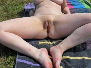our favourite naturist site in Lincolnshire where we fuck outdoors, anyone watching? You guys like my pussy? Want to cum in me? Or on my tits?