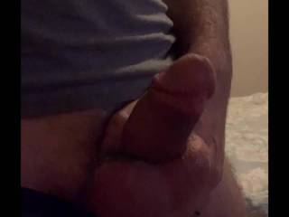 who wanna play with my cock? I want to dedicate my cum to a nice big ass!!