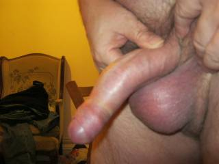 I would love to suck your gorgeous uncut cock until you empty your cum-filled balls in my mouth.