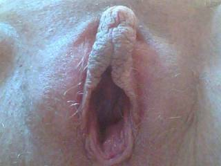 my big pregnant pussy wide open for some dick. :)