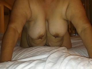 I can just imagine the feel of her big soft belling draping over my cock as I suck one of those juicy fat nipples into my mouth...