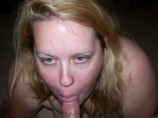 """Here's what Lupo's Wife looks like with my cock in her mouth...Gotta love a married woman who tells her cuckold hubby she's """"going to suck and fuck another man and all he can do is watch and enjoy the show!"""""""