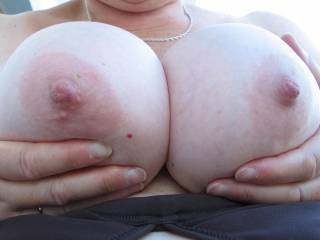 squeeze 'em round my cock and let me tit fuck those wonderful breasts. LOVELY!!!