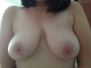 Like them? I think they are amazing. Wish i were sucking them right now while you ride me.