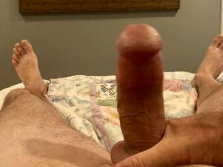Rubbing it while the wife is away  wish I had something else to play with it