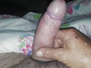 Stroking my cock