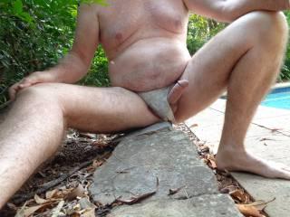 love wearing panties as my erection shows,,, anybody else enjoy that pleasure