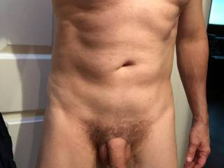 My cock and nipples.