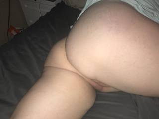 Getting ready to have some fun, what an ass she has, love my hot wife!!