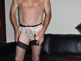 Very nice.  I would love to suck your cock through your sexy panties.