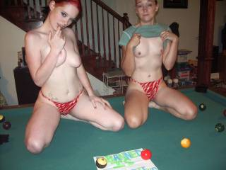 Tayla and Kelly showing their tits. Tayla telling me she wants my cock with her eyes