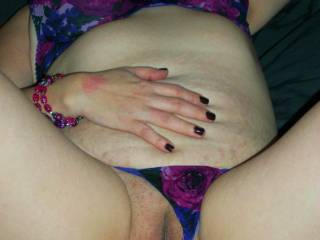 thongs to the side for hubby to get in