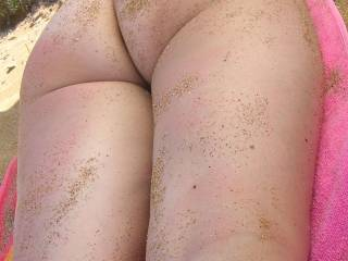 My naked sand covered ass on the beach