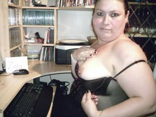 flashing boob on zoig chat