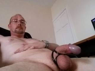 Trying out my new cock ring.... what you think?
