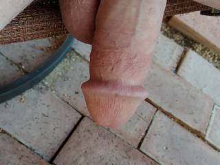 wow,tasty looking cock,would look better with me sucking you.
