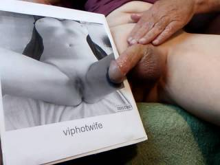 One of my favorite ladies on here  .... viphotwife . Had a lot of fun rubbing warm cum on her hot pussy .