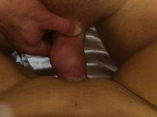 Wrapping my big pussy lips around his dick
