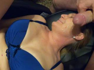 flyin sperm all over her body and face. slut is happy to see it. hope you all enjoyin this newest stuff from bigbullcro and if you like it, write some nice words and dont forget to like