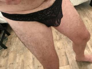 I just bought some panties while out shopping today. I was hard all the way home imagining the Lacey material caressing my cock and balls