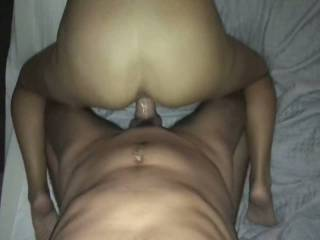 Just enjoying the view of that round ass smashing up against me while my cock is deep in that slick pussy.