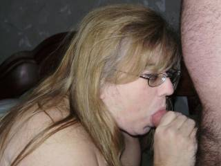 oh yeah she,s hot,just the way she,s sucking is getting my cock twitching
