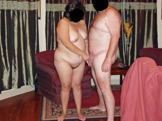 Hubby and I having fun and posing for a pic before fucking!