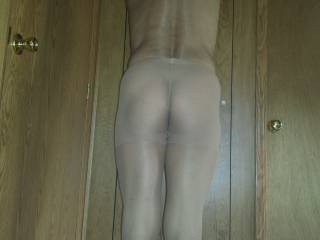 Love to feel that ass in your sheer pantyhose