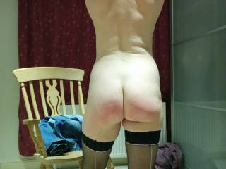 After the spanking limbering up for sex.