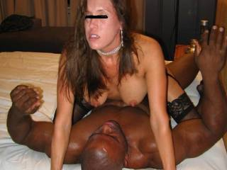 My hotwife female friend is riding my bbc shaft hard,deep and fast while having an intensive powerful orgasm. Damn she felt so good to my black cock shaft.