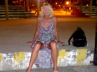 Public upskirt outdoor in Mexico...needed some fresh air down below to cool off a bit.....