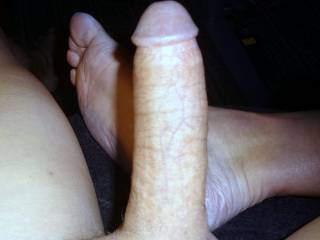 My hard shaved dick.