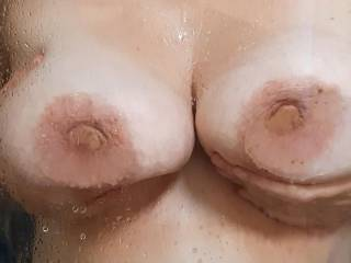 Soapy tits in the shower