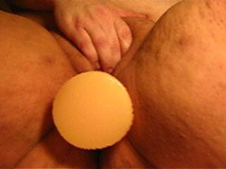 Such a pretty chubby pussy stuffed full of dildo. You got to love it. would love to stuff my hard black cock in that wet pussy. Mr.lew