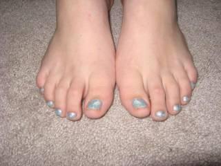 Her sexy ass feet.