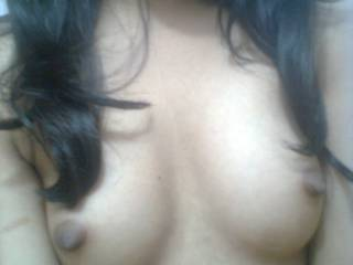 Perfect natural tits you have. Would love to have your nipples in my mouth.