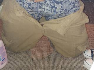 Cock ring challenge part 1. Bulge in pants. What do you think is underneath? Care to look?