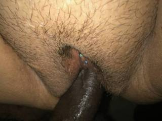 BBC going into her trimmed white married pussy