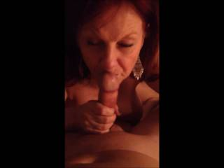 Louis took this video as my wife gave him a blowjob.  Later, when I watched the video, I couldn\'t believe she sucked and licked his balls. I love their conversation.