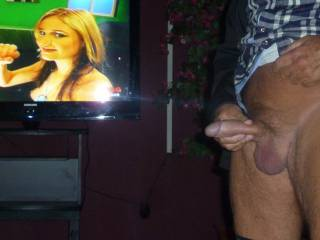 Flashing in front of other people in sexshop, Wanking my cock.