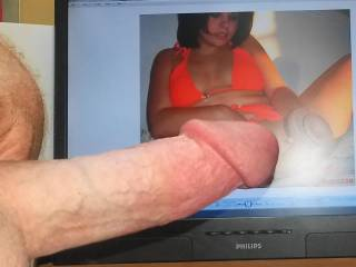 My hard cock likes tastyrenea fucks her big dick toy! Had to start stroking to her wet stuffed pussy! Love seeing her legs spread ready for cock! Pussy looks sooo tasty!