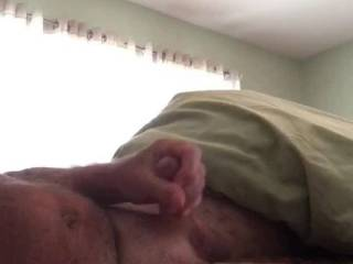 Love to stoke my cock first thing in the morning nice cum today